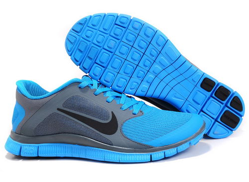 Nike Free Run 4.0 V3 Mens Blue Dark Grey Black Wholesale