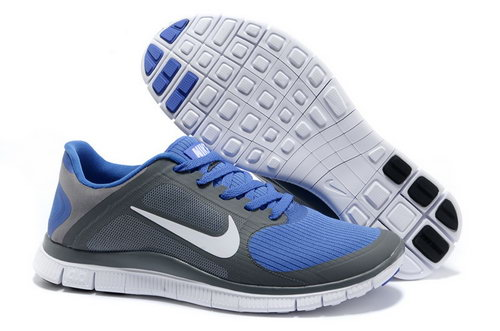 Nike Free Run 4.0 V3 Mens Dark Grey Blue Sale