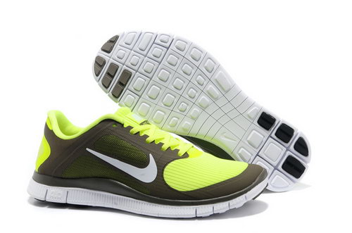 Nike Free Run 4.0 V3 Mens Fluorescent Green Online Store