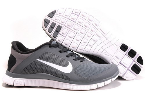 Nike Free Run 4.0 V3 Mens Grey Black White Portugal