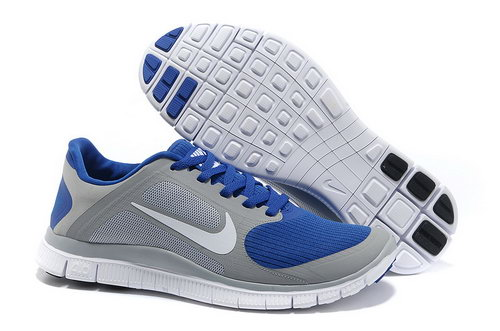 Nike Free Run 4.0 V3 Mens Grey Blue Outlet Store