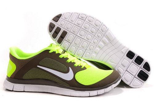 Nike Free Run 4.0 V3 Mens Khaki Fluorescent Green Japan