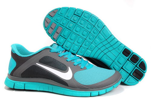 Nike Free Run 4.0 V3 Mens Lake Blue Dark Grey Usa
