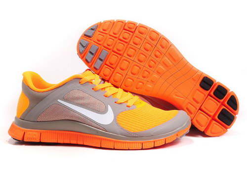 Nike Free Run 4.0 V3 Womens Dark Grey Orange Clearance