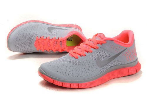 Nike Free Run 4.0 Womens Gray Pink Factory Outlet