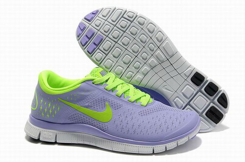 Nike Free Run 4.0 Womens Purple Fluorescent Green New Zealand