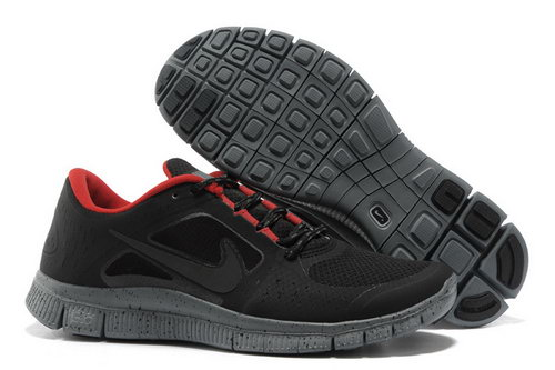 Nike Free Run 5.0 Mens Black Grey Red Discount Code