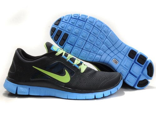 Nike Free Run 5.0 Mens Black Jade Green Outlet