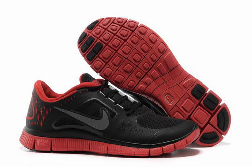 Nike Free Run 5.0 Mens Black Red Discount