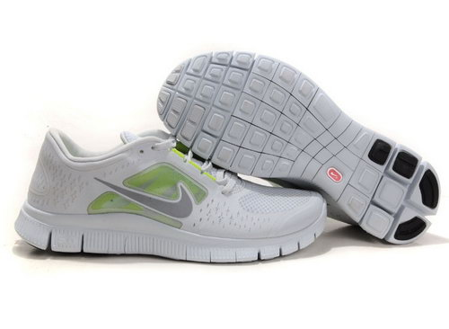 Nike Free Run 5.0 Mens Gray Green On Sale