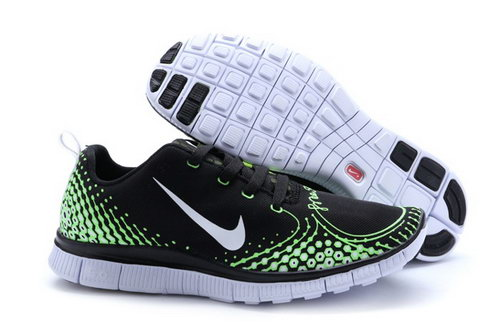 Nike Free Run 5.0 V4 Mens Shoes Black Green Silver Denmark