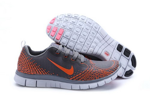 Nike Free Run 5.0 V4 Mens Shoes Gray Orange Outlet Online