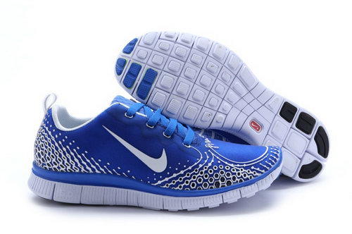Nike Free Run 5.0 V4 Mens Shoes Silver Blue China
