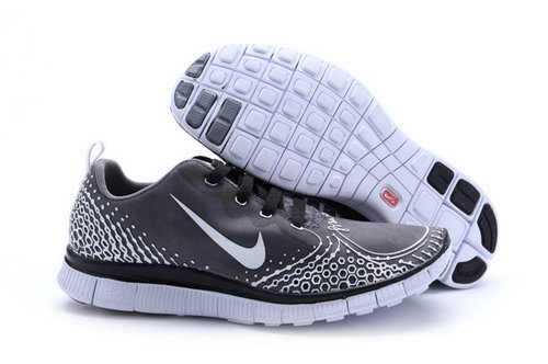 Nike Free Run 5.0 V4 Womens Shoes Gray Silver Reduced