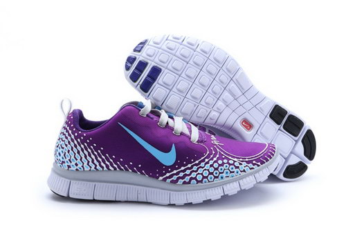 Nike Free Run 5.0 V4 Womens Shoes Purple Silver Blue Online