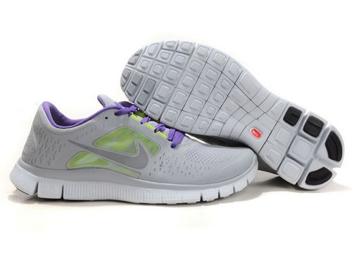 Nike Free Run 5.0 Womens & Mens (unisex) Gray And Purple New Zealand
