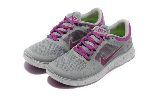 Nike Free Run 5.0 Womens Lime Purple Shoes Sale
