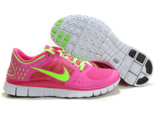 Nike Free Run 5.0 Womens Pink Green Online Store