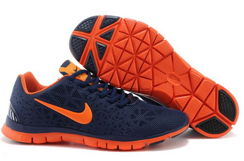 Nike Free Tr Fit 3 Breathe Mens Shoes Dark Blue Orange Special Online