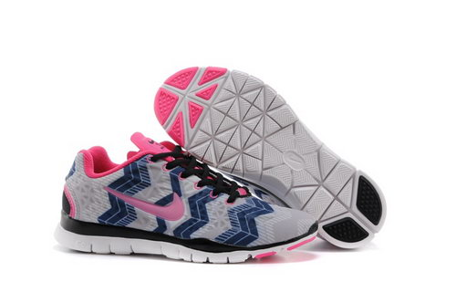 Nike Free Tr Fit 3 Prt Womens Shoes Gray Pink Bluee Factory