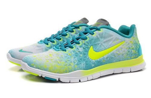 Nike Free Tr Fit 3 Prt Womens Shoes Green Yellow White Hot Low Price