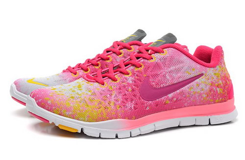 Nike Free Tr Fit 3 Prt Womens Shoes Pink Red White Hot Italy
