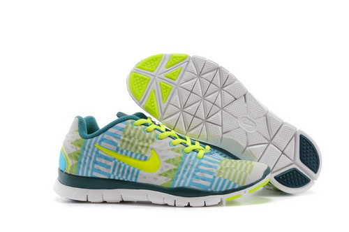 Nike Free Tr Fit 3 Prt Womens Shoes Sky Blue Lemo Yellow Sweden