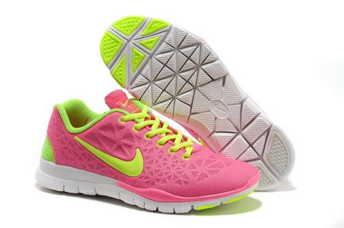 Nike Free Tr Fit 3 Womens Shoes Pink Green Sale