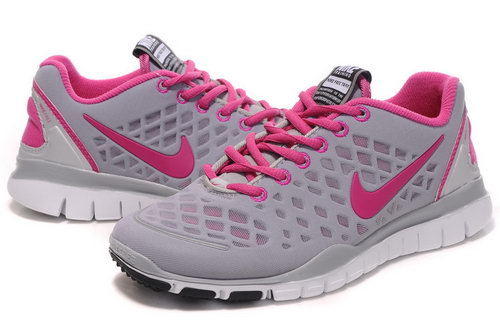 Nike Free Tr Womens Grey Pink For Sale