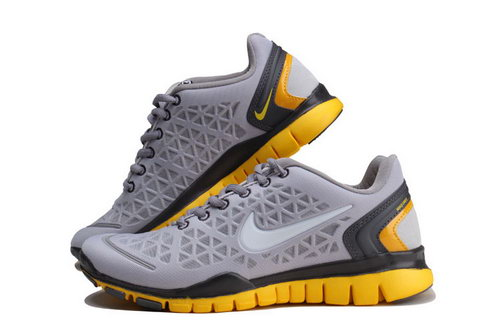 Nike Free Tr Womens Light Grey Yellow Clearance