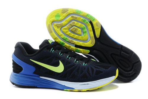 Nike Lunarglide 6 Trainers Men Black Blue Green Czech