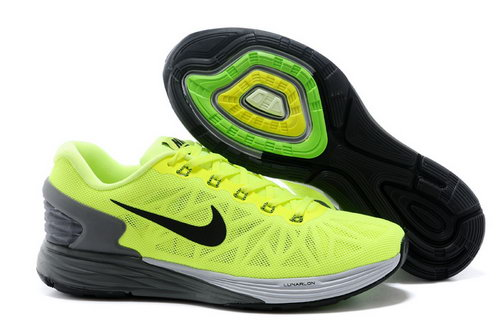 Nike Lunarglide 6 Trainers Men Green Black Low Cost