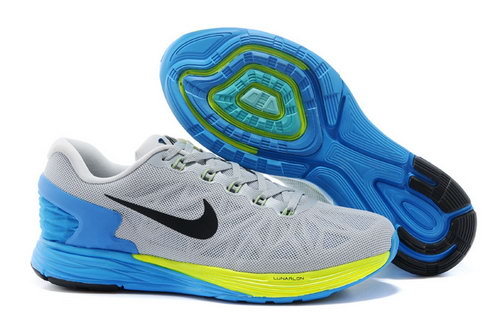 Nike Lunarglide 6 Trainers Men Grey Blue Cheap