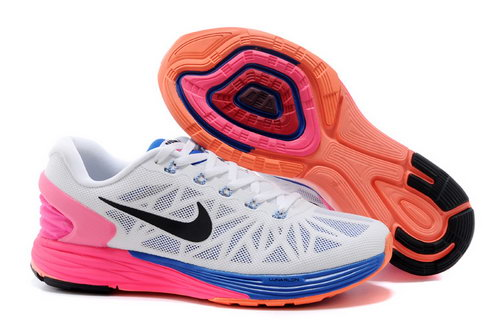 Nike Lunarglide 6 Trainers Women White Pink Black Discount