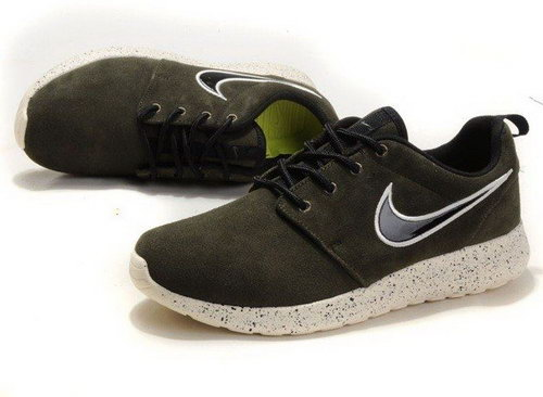 Nike Mens Roshe Running Shoes Wool Skin Army Green Discount On Sale Reduced
