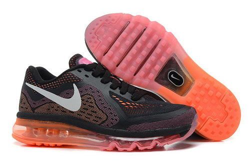 Nike Nike Air Max 2014 Womens Black Orange Pink White Shoes Reduced