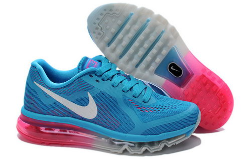 Nike Nike Air Max 2014 Womens Blue Grey Pink White Shoes Online