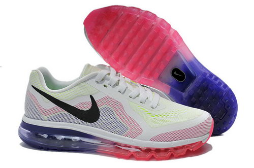 Nike Nike Air Max 2014 Womens White Pink Purple Black Shoes Online Shop