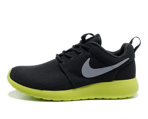Nike Roshe Mens Running Shoes Black Silver Green New Spain