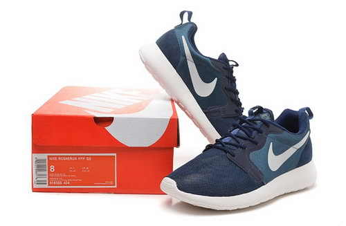 Nike Roshe Run 3m Mens Shoes Deep Blue Sky Blue Hot For Sale