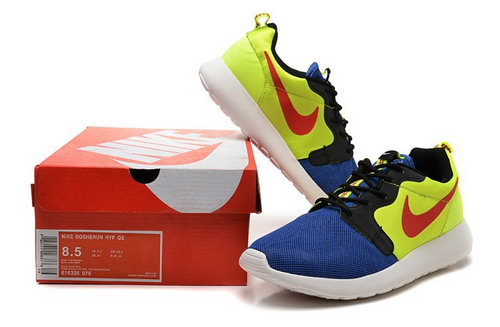 Nike Roshe Run 3m Mens Shoes Yellow Blue Red Hot Japan