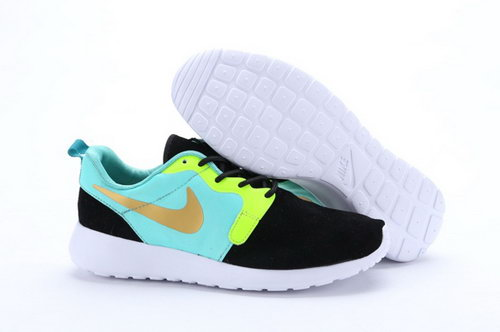 Nike Roshe Run Hyp Prm Qs Mens Shoes Fur Black Green Yellow Silver New Winter Usa