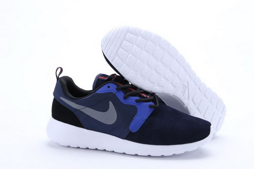 Nike Roshe Run Hyp Prm Qs Womenss Shoes Fur Black Blue Gray Silver New Italy