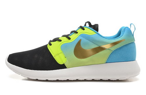 Nike Roshe Run Hyp Qs 3m Mens Shoes Black Green Blue Gold New Best Price