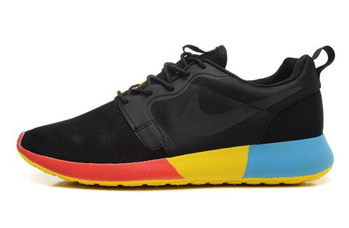 Nike Roshe Run Hyp Qs 3m Mens Shoes Black Orange Yellow Blue New Discount Code