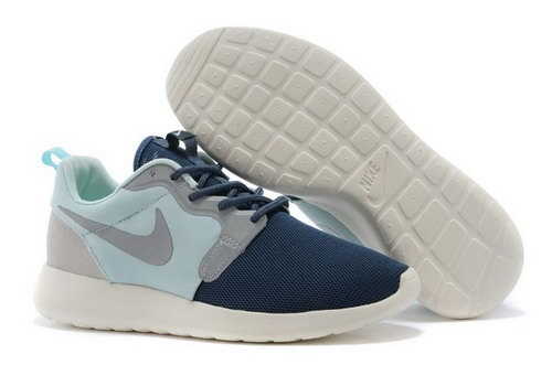 Nike Roshe Run Hyperfuse 3m Reflective Womenss Shoes Dark Blue Light Blue Canada