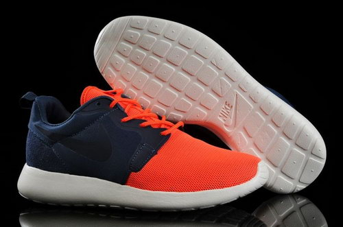 Nike Roshe Run Hyperfuse 3m Reflective Womenss Shoes Dark Blue Orange Uk