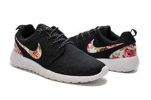 Nike Roshe Run Mens & Womens (unisex) 2015 Flower Hook Black White Sweden