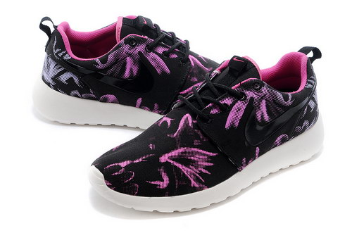 Nike Roshe Run Mens & Womens (unisex) Floral Black Red Sale