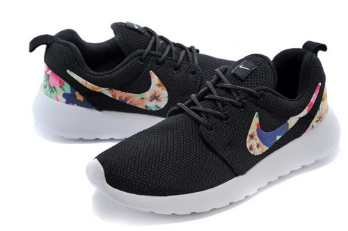 Nike Roshe Run Mens & Womens (unisex) Floral Black White 2 For Sale
